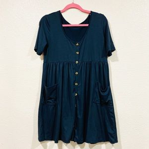 Sweet Claire button front dress with pockets